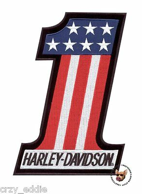 Harley Davidson Usa Number 1 Evel Knievel Vest Patch ** Made Usa ** Small