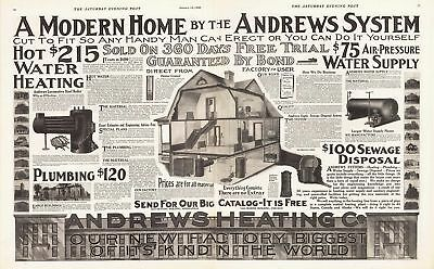 1909 AD Andrews Heating & plumbing system water supply