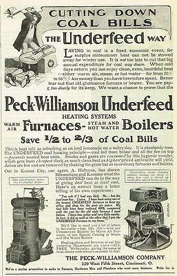 1909 AD Peck Williamson, Cincinnati, OH Underfeed furnaces and boilers