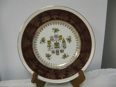 """Older Simpson Potters, Eng - CANADA Solian Ware 10"""" Ornate Plate"""