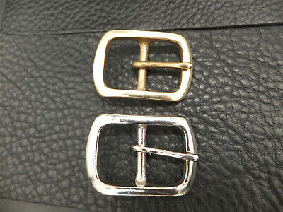 """1"""" 25 mm SOLID BRASS or NICKEL Belt Buckle  Leather craft 714"""