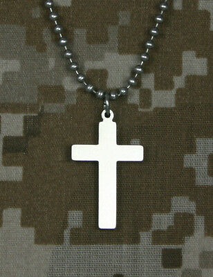 Official U.S. Military CROSS GI Jewelry Stainless Steel Necklace