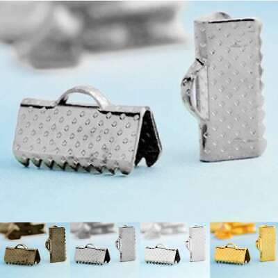 Hot Iron Ribbon Necklace 6/8/10/13/16/20/25/30mm Cord Tips Clip Clamp Bead Ends
