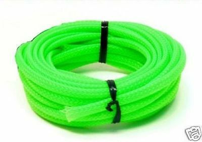 UV Green PC  Cable Sleeving - 3 metres x 6mm