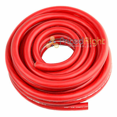 0 Gauge 25' Wire UltraFlex Amplifier Red Ga 1/0 Amp Power Ground Cable 25 Ft
