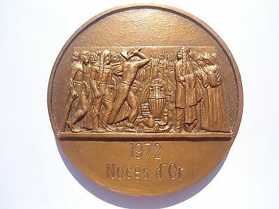 Bronze Medal By Coutre - Golden Wedding Anniversary - Soissons France / M44