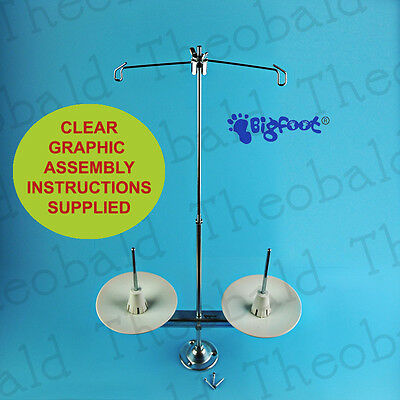 Bigfoot 2 Spool Metal Thread/cotton Stand/holder  All Industrial Sewing Machines