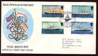 GB 1973 Mail Boats FDC #C11927