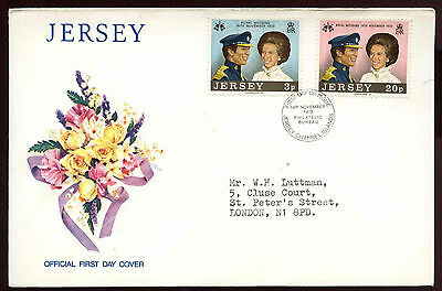 Jersey 1973 Royal Wedding FDC #C11919