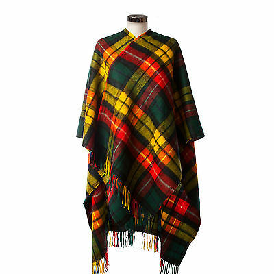 EDINBURGH LAMBSWOOL 100% Luxury Lambswool Ladies Cape Tartan Buchanan