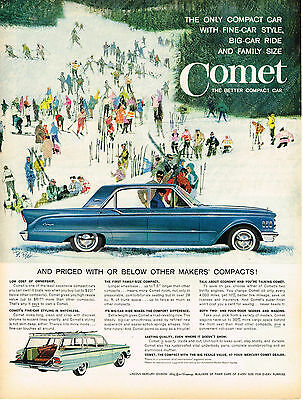 Vintage 1961 Magazine Ad Ford Comet Better Compact Car & Pall Mall Cigarettes