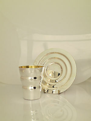 sterling silver Kiddush Cup & tray set