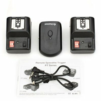 Neewer 4 Channels Wireless/Radio Hot Shoe Flash Trigger Set with 2 Receivers for