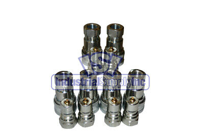 """6 Sets of 3/8"""" ISO 7241-1 B Hydraulic Quick Disconnect Couplers"""