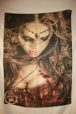 VICTORIA FRANCES Leave Cloth Poster Flag Fabric Textile Tapestry Wall Banner-New