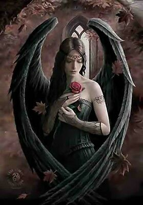 ANNE STOKES Angel Rose Cloth Poster Flag Fabric Textile Tapestry Wall Banner-New