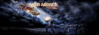 """Amon Amarth Deceiver of the Gods 20.5""""x58"""" Fabric Poster Flag DOOR BANNER-New!!"""