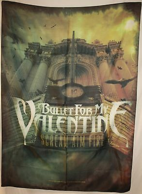 BULLET FOR MY VALENTINE Scream Aim Fire Cloth Poster Flag Fabric Tapestry-New!