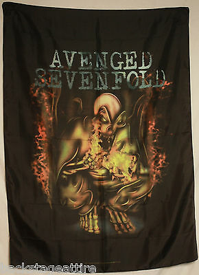 AVENGED SEVENFOLD A7X Firebat Fire Bat Textile Fabric Cloth Poster Flag New!