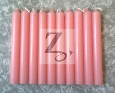 Ritual Chime Candles Set of 10 PINK Wicca Altar Magic