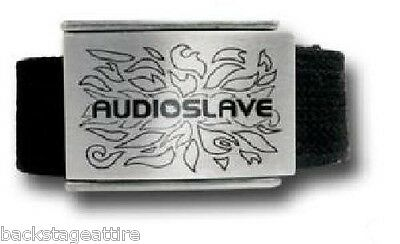HALF PRICE SALE! Audioslave Logo Tom Morello Web Belt w/Enamel Inlay Brand New!!
