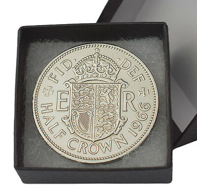 Boxed Highly Polished Halfcrowns Birthday Coin Choice Of Date 1947-1967 Free Pos