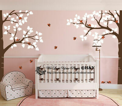 Full Corner Tree Nursery Wall Stickers Removable Decal Kids Baby Room Decor Art