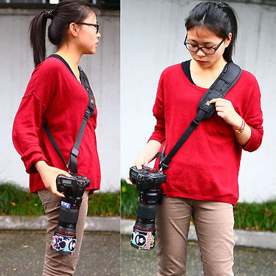 SLR DSLR Camera Quick Rapid Single Shoulder Sling Belt Strap for Digital  Camera