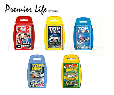 Top Trumps Card Games - 5 Packs To Choose From