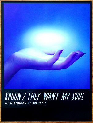 SPOON They Want My Soul 2014 Ltd Ed RARE HUGE New Poster +FREE Indie Rock Poster
