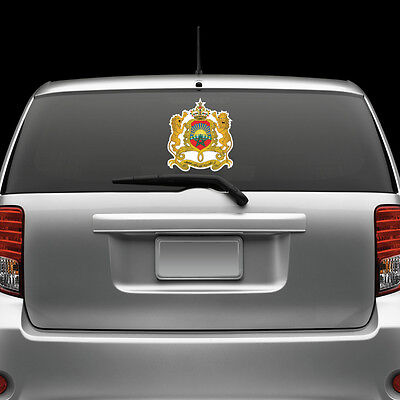 Moroccan Coat of Arms Windshield Sticker Decal Vinyl Large Morocco flag MAR MA