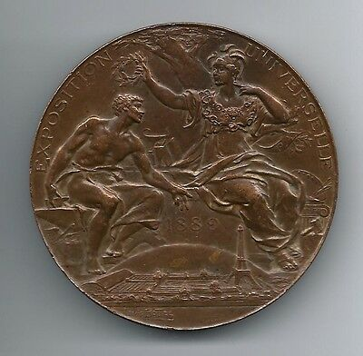 Exposition Universelle Paris 1889/Eiffel Tower/Bronze Medal by Louis Bottée. M45