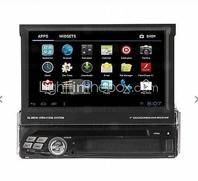 "Single 1Din 7"" Android Car DVD GPS Navigation 3G WIFI Touch Screen Stereo Audio"