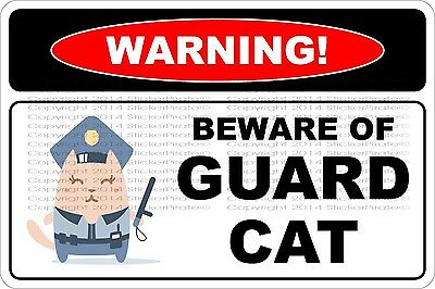 1234 warning i am unsupervised freaks me out too cat sign   9 x 12 aluminum