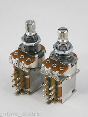 ALPHA PUSH-PULL POTS Log A or Linear B 250k DPDT Potentiometers Electric Guitar
