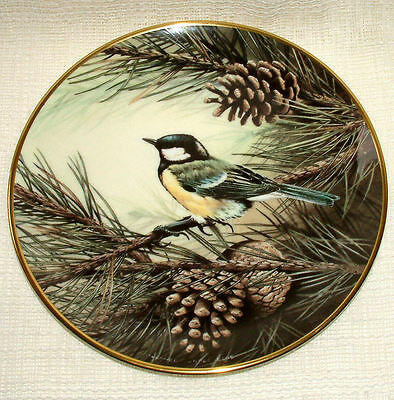 Wedgwood BIRD PLATE Centenary Collection RSPB - GREAT TIT Titmouse