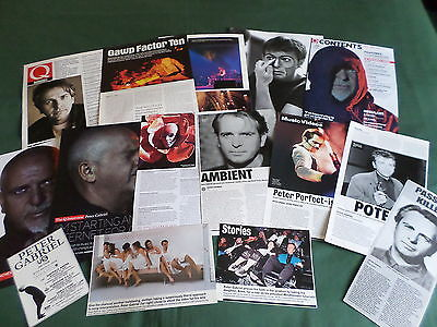 Pete Gabriel - Music Celebrity - Clippings /cuttings Pack