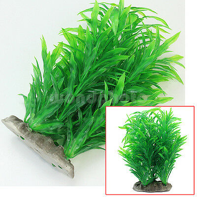 Green Artificial Aquarium Fish Tank Plastic Plant Water Grass Ornament Decor