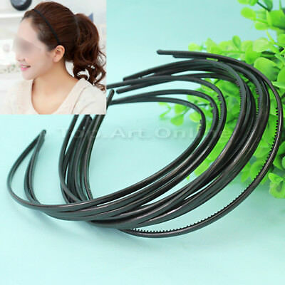 10 Pcs Fashion Black Plain Lady Women Plastic Teeth Hairband Headband Hot Sale