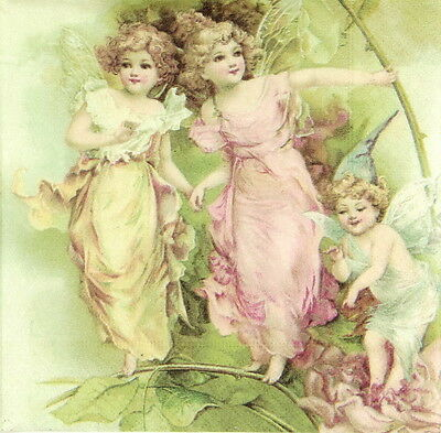 4x Paper Napkins for Decoupage Party Sagen Romantic Angels 2