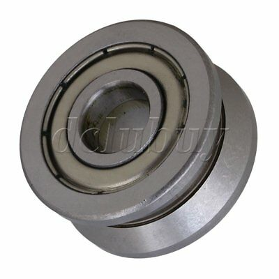 Silver Steel 10x30x14mm Groove Ball Bearing Roller Guide