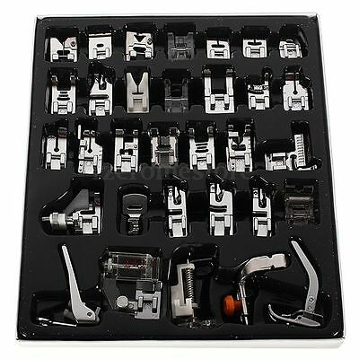 32pcs Multi Costura Máquina Coser Prensatelas Sewing Machine Presser Foot Feet