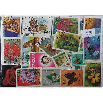 200 Tanzania stamps (535)