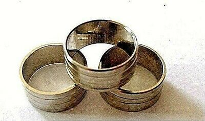 Walking Stick Collar 3 Pack Silver/Brass Ring Shaft Part Canes 19-20 mm New