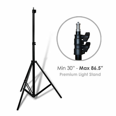 "Lusana Studio 86"" Tall Quality High Output Easy Locking Photography Light Stand"