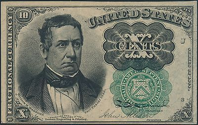 Fr1264 Green Seal 10¢ 5Th Issue Choice Cu Fractional Currency Br5791