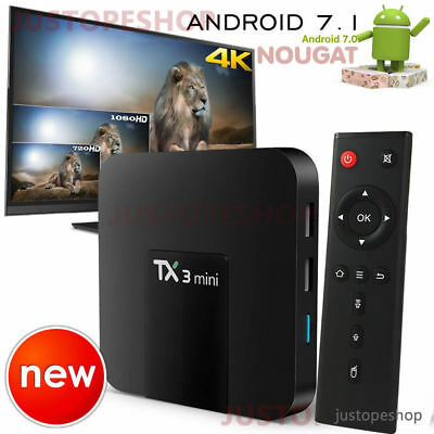 2019 TX3 Mini 2GB+16GB Quad Core Android 7.1 TV Box 4K HD Media Player WIFI UK