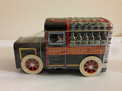 Hershey's Chocolate Vehicle Canister #1 Milk Truck Spining Wheels Tin NEW/SEALED