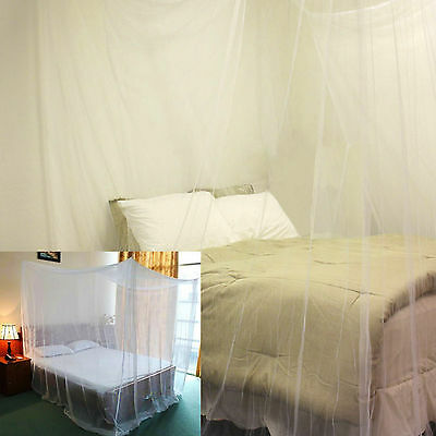 Mosquito Box Net Fly Insect Bug Protection Mesh Bed Canopy Netting Curtain White