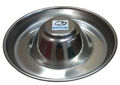 Stainless Steel Puppy feeding saucer weaning bowl Medium or Large